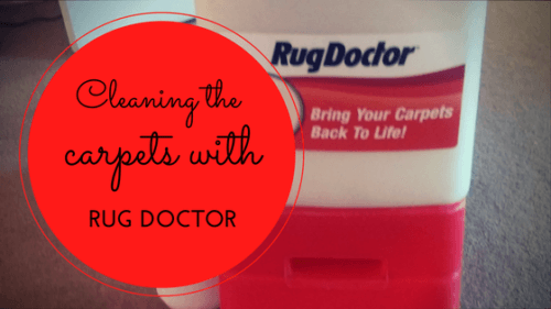 cleaning carpets with rug doctor
