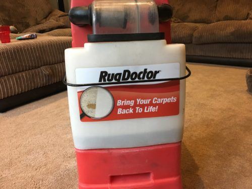 Rug Doctor rental machine