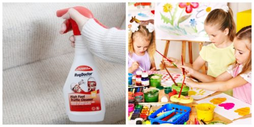 Cleaner-and-Children-Painting-500x250 Last-Minute Back to School Tips