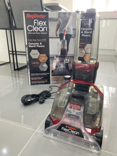 flexclean_with_boxing-375x500 Cleaning my carpets with Rug Doctor (Guest Blog by House To Home At Last)