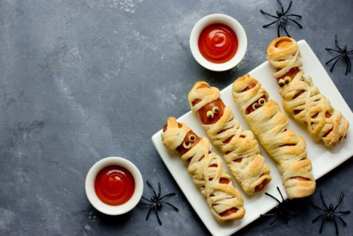 Halloween-Sausage-Mummies-500x334 Halloween Party Ideas