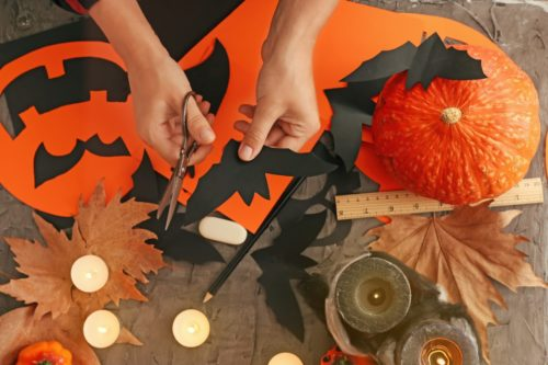 Making-Halloween-Decorations-500x333 Halloween Party Ideas