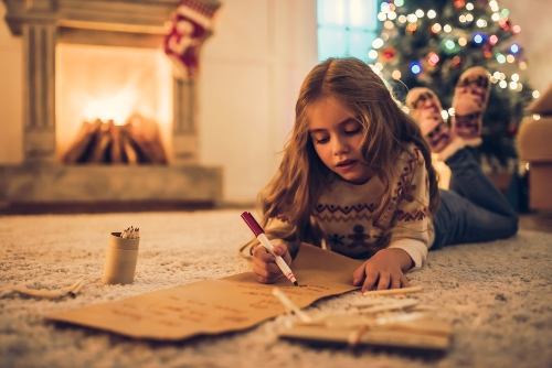 child-writing-christmas-list How to Have a Stress-Free Christmas Day